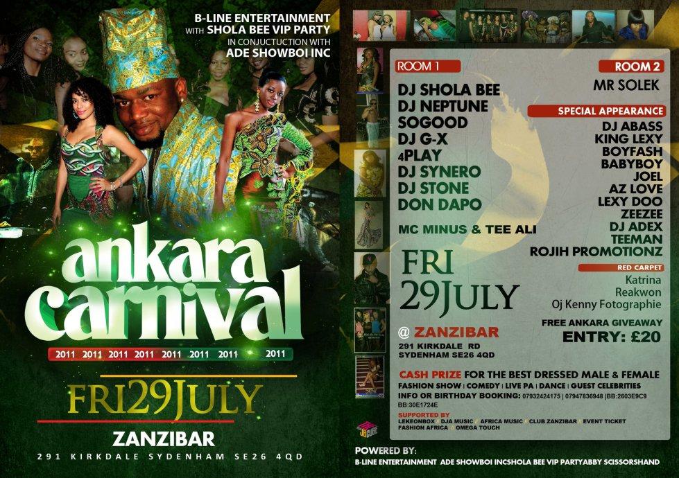 ANKARA CARNIVAL 2011 ON FRI 29TH JULY@@ZANZIBAR.