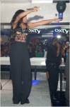 Kelly Rowland performs at 4sixty6 Lounge in West Orange, NJ.  She has an unexpected wardrobe malfunction during the last song of her performance.