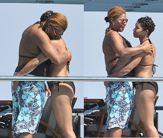 Big ups to you Queen Latifah! What do you think of her choice of woman?