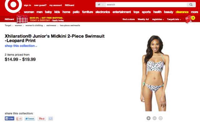 target photoshop bikini